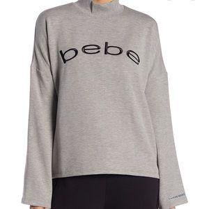 BEBE - Fleece Drop Shoulder Crew Neck Sweater- New